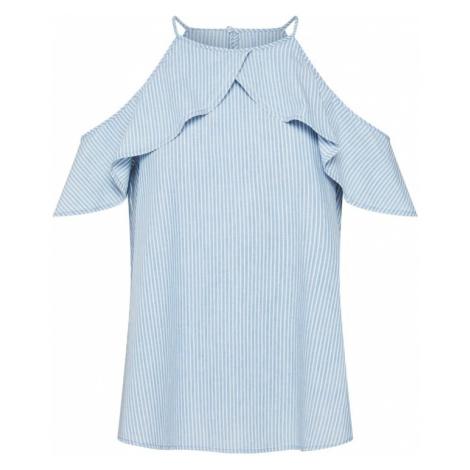 VERO MODA Bluzka 'SANDRA' niebieski denim / biały