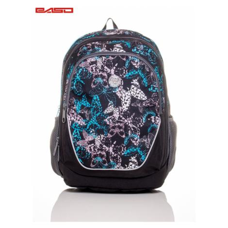 Plecak szkolny z nadrukiem motyla