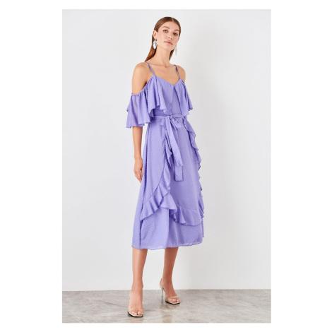 Trendyol Lilac Volan Detailed Dress