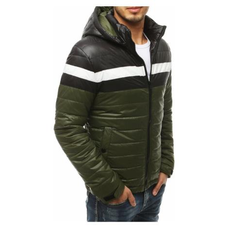Męska pikowana przejściowa zielona kurtka TX3437 DStreet