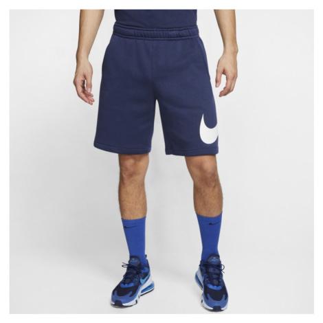 Spodenki męskie z nadrukiem Nike Sportswear Club - Niebieski