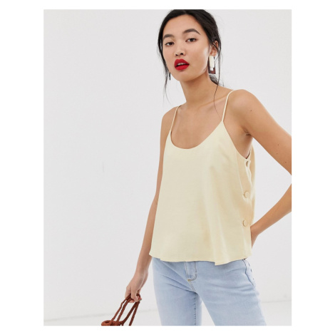 Mango button side cami in beige