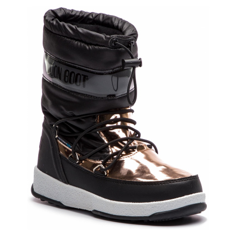 Śniegowce MOON BOOT - W.E. Jr Girl Soft Wp 34051700001 Black/Copper