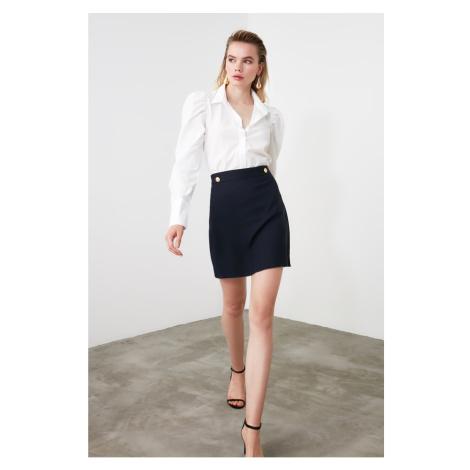 Trendyol Navy Blue Straight Skirt