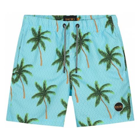 Shiwi Szorty kąpielowe 'palms' turkusowy / zielony