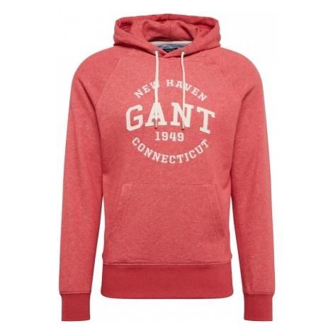 GANT Bluzka sportowa 'Gant Sweat Hoodie' czerwony / biały