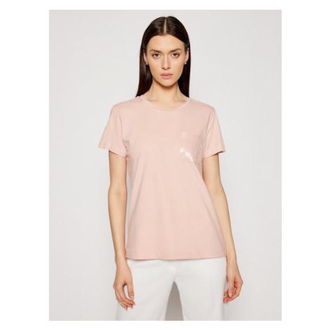 DKNY T-Shirt P0RAOC2R Różowy Regular Fit