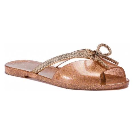 Klapki MELISSA - Ela Chrome Ad 32498 Clear Glitter Pink/Gold 53405