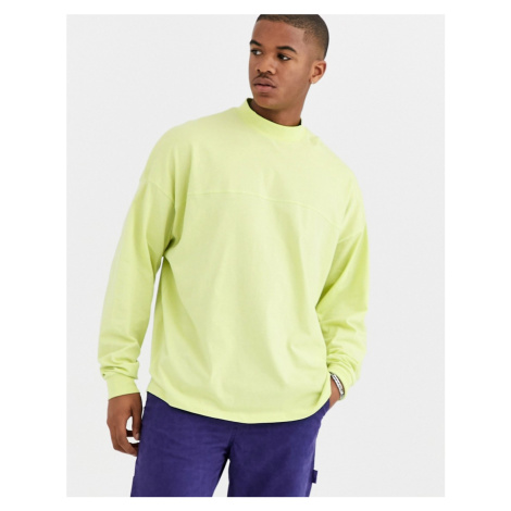 ASOS DESIGN oversized long sleeve t-shirt with seam in green