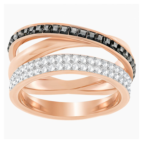 Hero Ring, Gray, Rose-gold tone plated Swarovski