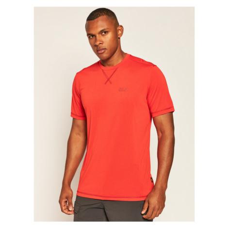 Jack Wolfskin Koszulka techniczna Crosstrail T 1801671 Czerwony Regular Fit