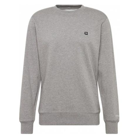 Calvin Klein Jeans Bluzka sportowa 'CKJ CHEST EMBROIDERY CREW NECK' jasnoszary