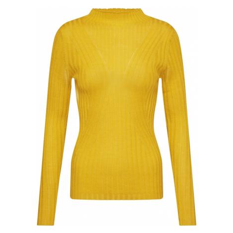SELECTED FEMME Sweter 'SLFLIMA LS KNIT T-NECK' żółty