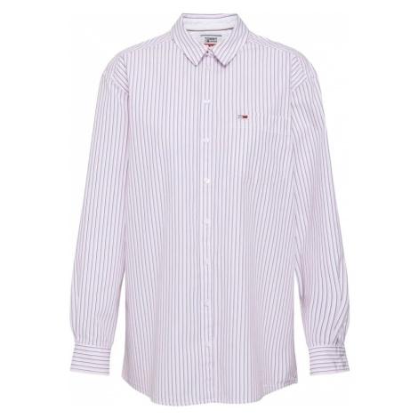Tommy Jeans Bluzka 'TJW BOYFRIEND MULTISTRIPE SHIRT' różowy pudrowy / biały Tommy Hilfiger