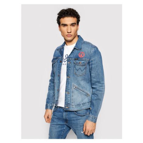Wrangler Kurtka jeansowa The Wrider W4MJUG Granatowy Regular Fit