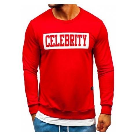 Bluza męska bez kaptura z nadrukiem czerwona Bolf 11115