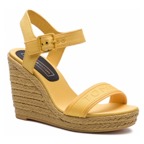 Espadryle TOMMY HILFIGER - Colorful Tommy Wedge Sandal FW0FW04160 Spectra Yellow 730