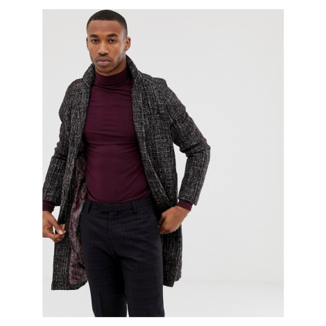 Harry Brown premium wool blend fleck cocoon coat