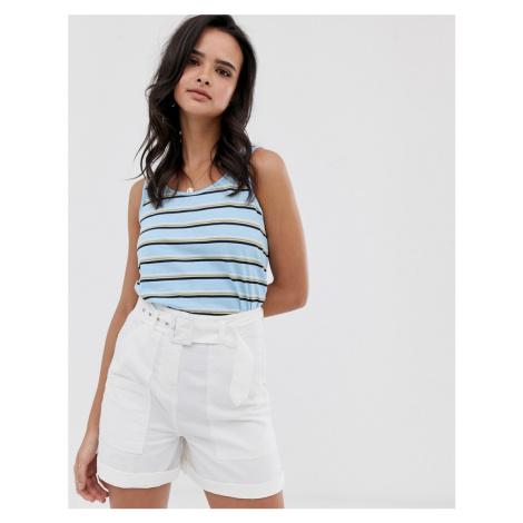 Esprit stripe vest top in light blue