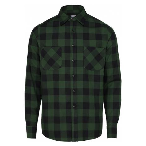 Urban Classics Koszula 'Checked Flanell' ciemnozielony / czarny