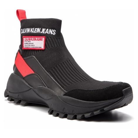 Sneakersy CALVIN KLEIN JEANS - Tray S0587 Black/Tomato
