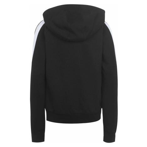 Czarne dziewczęce bluzy na zapinanie