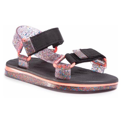 Sandały MELISSA - Papete + Rider Fluor E 33221 Clear Multicolor/Black/Pink 53775