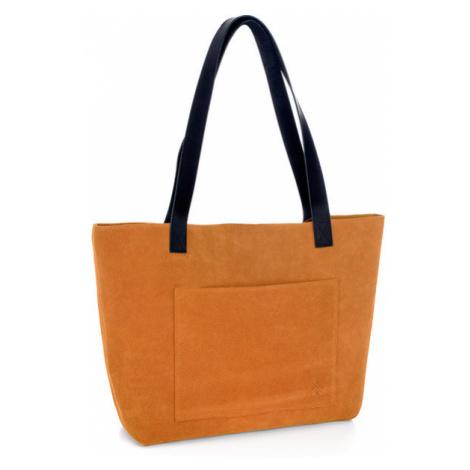 Welurowa Torebka Damska | Pomarańczowa Rostellum Caroten Woox