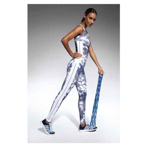 Damskie legginsy sportowe Code white-blue Bas Bleu