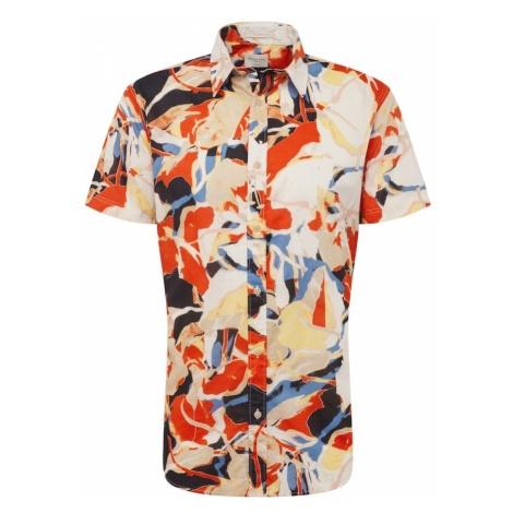 SELECTED HOMME Koszula 'TOKYO' beżowy / pomarańczowy / czerwony