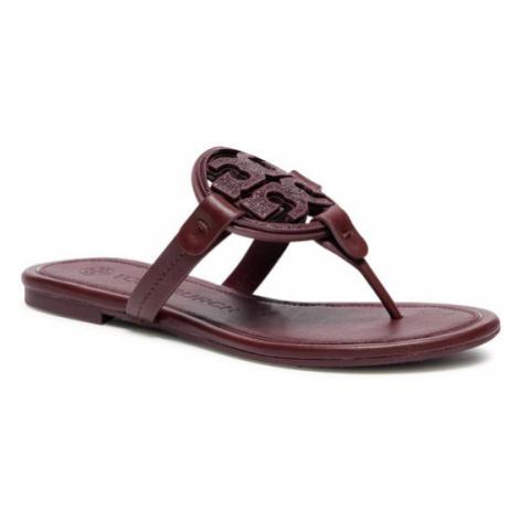 Tory Burch Japonki Metal Miller Embellished Sandal 79535 Bordowy