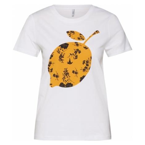 ONLY Koszulka 'Life' złoty żółty / biały