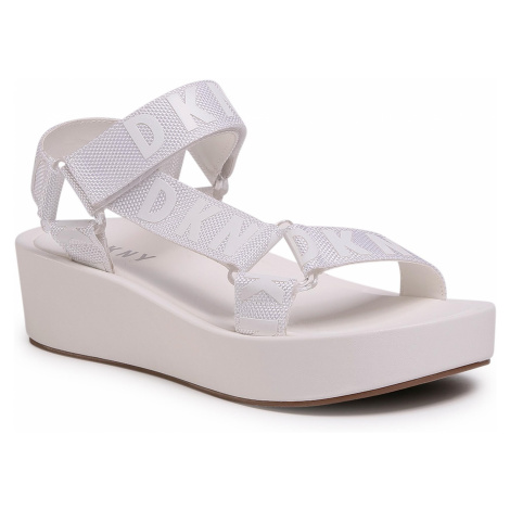 Sandały DKNY - Ayli K1083353 Logo White
