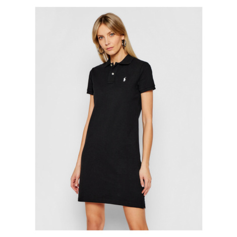 Polo Ralph Lauren Sukienka codzienna Polo Shirt Shop 211799490018 Czarny Regular Fit