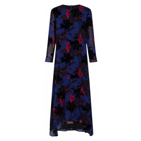 Y.A.S Sukienka 'YASAMARYLLIS LS MIDI DRESS' niebieski / ciemnoczerwony / czarny