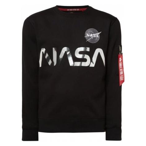 Bluza z błyszczącym nadrukiem NASA Alpha Industries