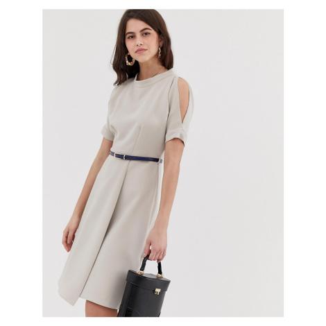 Closet a line open shoulder dress