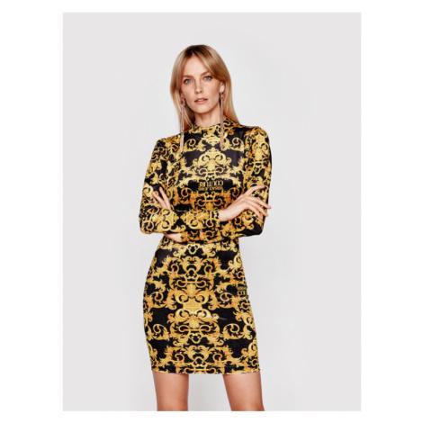 Versace Jeans Couture Sukienka koktajlowa D2HWA424 Kolorowy Slim Fit