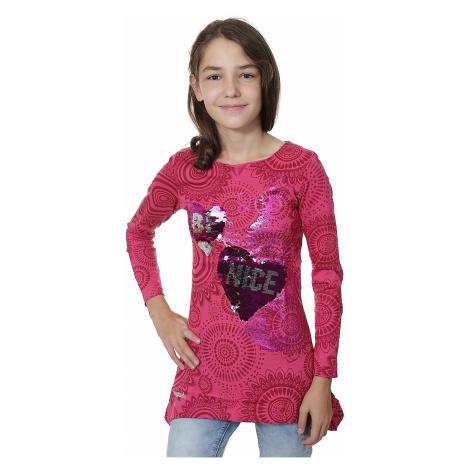 koszulka Desigual 67T30F1/Quebec LS - 3022/Fuchsia Rose