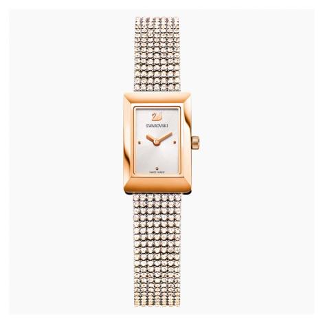 Zegarek Memories, pasek Crystal Mesh, biały, powłoka PVD w odcieniu różowego złota Swarovski