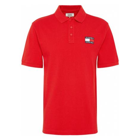Tommy Jeans Koszulka 'BADGE POLO' czerwony Tommy Hilfiger