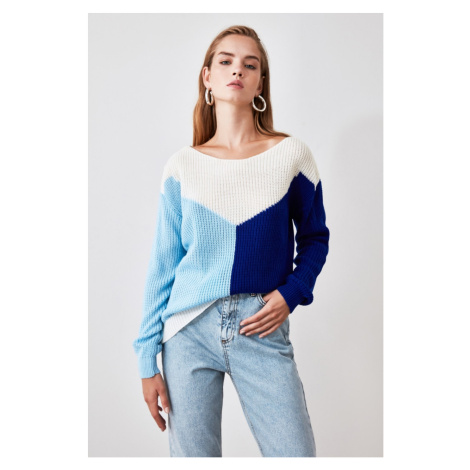 Women's sweater Trendyol Color Block