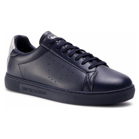 Sneakersy EMPORIO ARMANI - X4X316 XM500 N026 Blue Navy/Old Silver