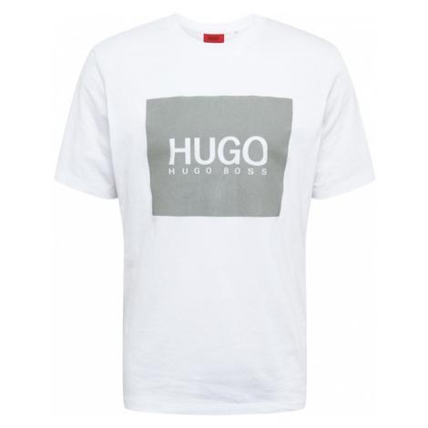 HUGO Koszulka 'Dolive' biały / ciemnoszary Hugo Boss