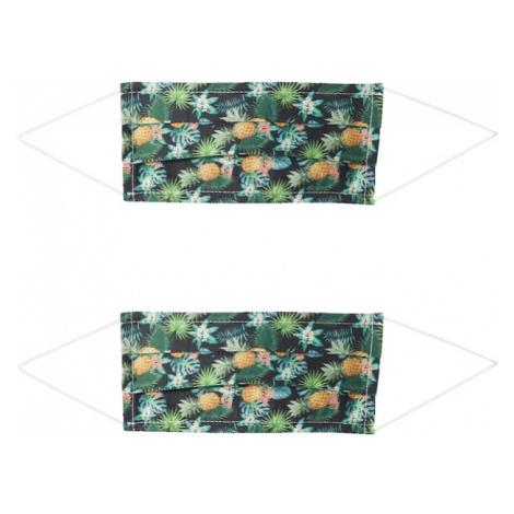 Zwillingsherz Maska z materiału '2er Pack Hawaii' mieszane kolory / czarny