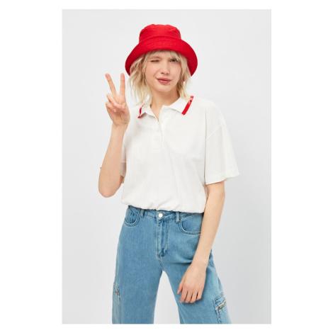Trendyol White Polo Neck Knitted T-Shirt