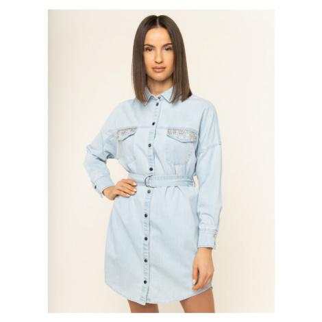 Guess Sukienka jeansowa New Parisian W01K0S D32Q4 Niebieski Regular Fit