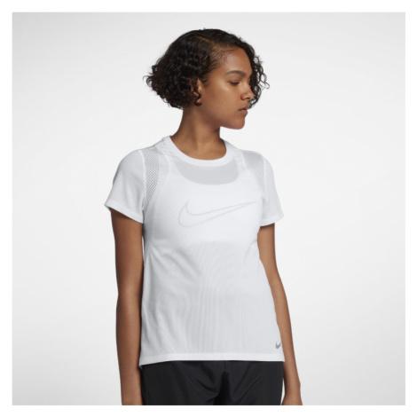 Damska koszulka z krótkim rękawem do biegania Nike Run - Biel