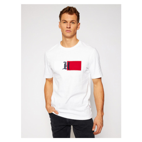 Tommy Hilfiger T-Shirt LEWIS HAMILTON Classic Logo MW0MW15720 Biały Relaxed Fit