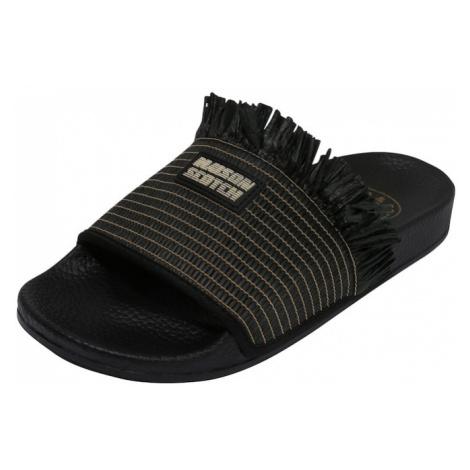 SCOTCH & SODA Pantofle 'Alie' czarny / beżowy / biały